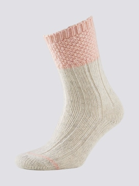Knitted wool socks with colour details - 7 - TOM TAILOR