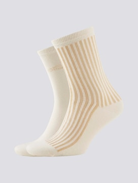 Socks with glossy stripes in a twin pack - 7 - TOM TAILOR