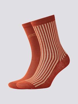 Socken mit Glanzstreifen im Zweierpack - 7 - TOM TAILOR