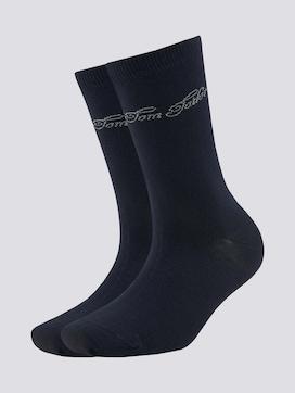 Gepunktete Socken im Doppelpack - 7 - TOM TAILOR