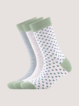 Socken im Dreierpack mit Motivprint - 7 - TOM TAILOR