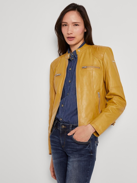 Leather jacket - Women - yellow - 5 - TOM TAILOR