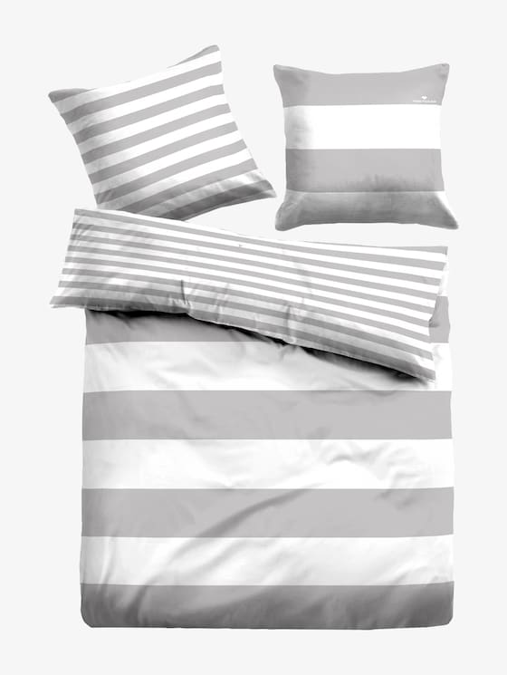 striped, reversible bed linen - unisex - grey - 7 - TOM TAILOR