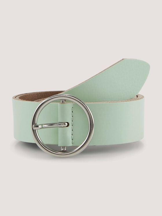 Leather belt with round buckle - Women - mint - 7 - TOM TAILOR Denim