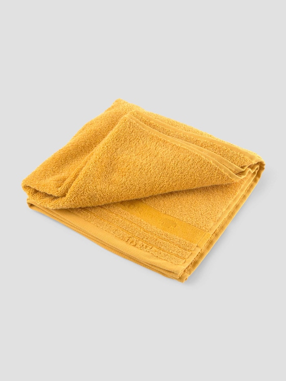 Badstof handdoek - Mannen - mustard - 7 - TOM TAILOR