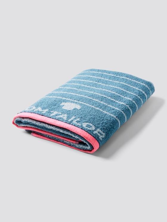 Großes Handtuch mit Neon-Akzenten - unisex - petrol - 7 - TOM TAILOR