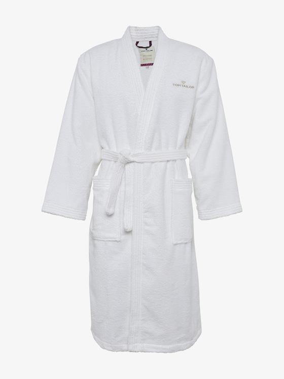 bathrobe - Men - white - 7 - TOM TAILOR