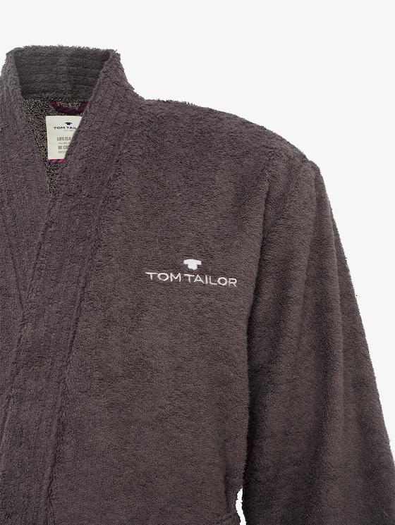 bathrobe - Men - dunkelgrau / dark grey - 3 - TOM TAILOR