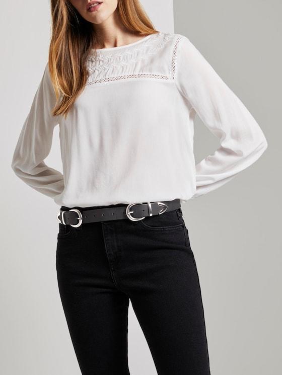 Waist belt with a double belt buckle - Women - black - 5 - TOM TAILOR Denim