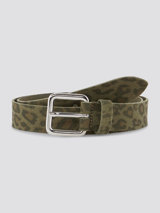 Belt with an animal print - Women - leo olive - 7 - TOM TAILOR Denim