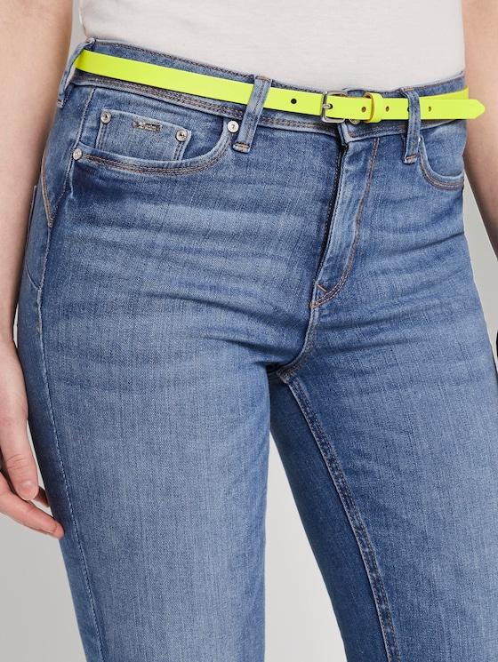 Neon waist belt made of leather - Women - neongelb - 5 - TOM TAILOR Denim