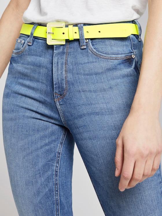 Neon leather belt - Women - neongelb - 5 - TOM TAILOR Denim
