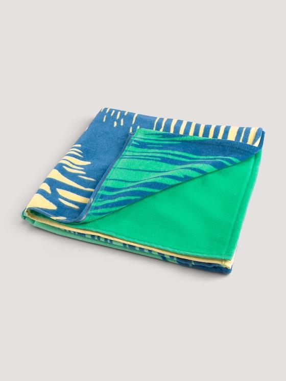 Strandhandtuch mit Print - unisex - gruen / green - 7 - TOM TAILOR