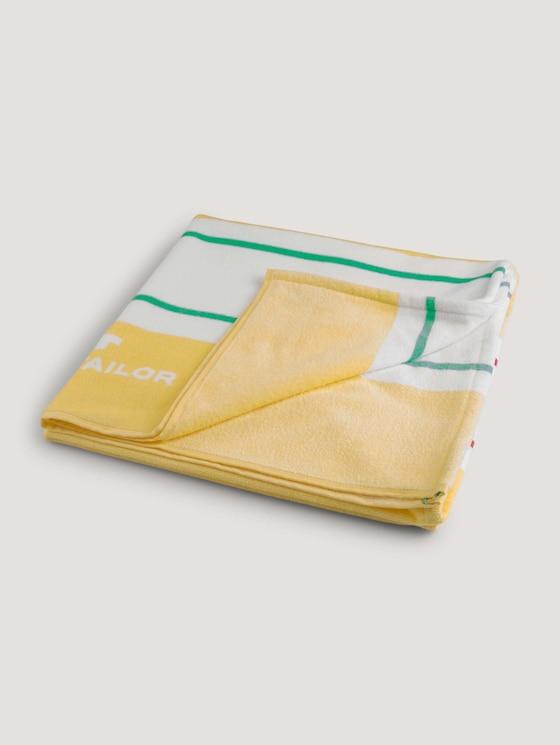 Strandhandtuch gestreift - unisex - yellow - 7 - TOM TAILOR