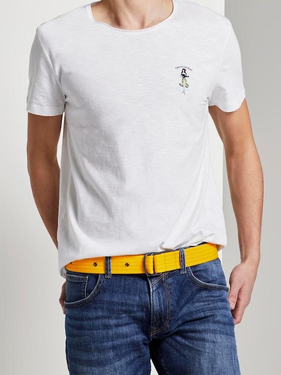 Extra-long fabric belt with eyelets - Men - ocker - 5 - TOM TAILOR Denim