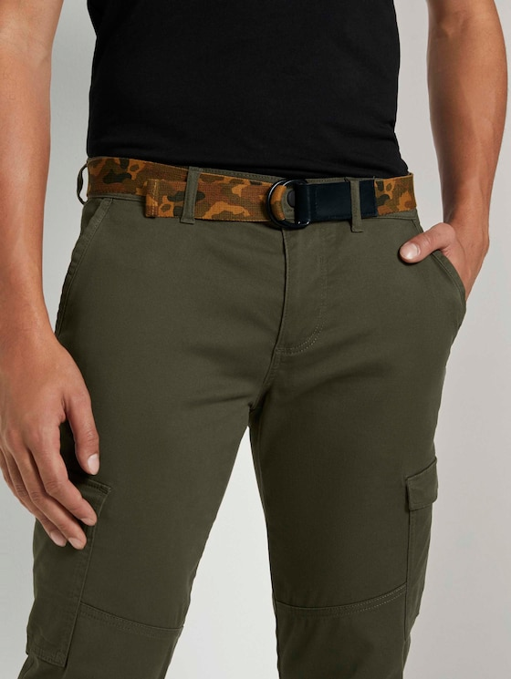 Woven camouflage belt - Men - camouflage - 5 - TOM TAILOR Denim