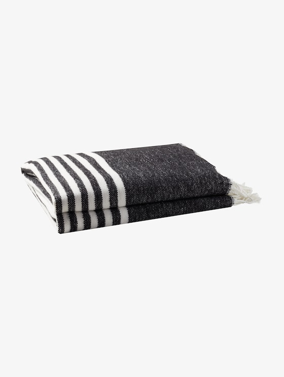 Gestreifte Decke - unisex - black - 7 - TOM TAILOR
