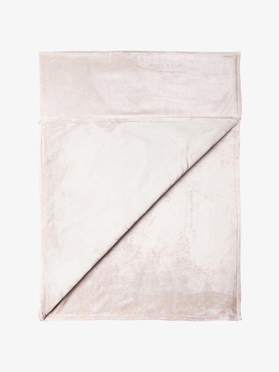 gemütliche Fleece-Decke - unisex - weiss / white - 1 - TOM TAILOR