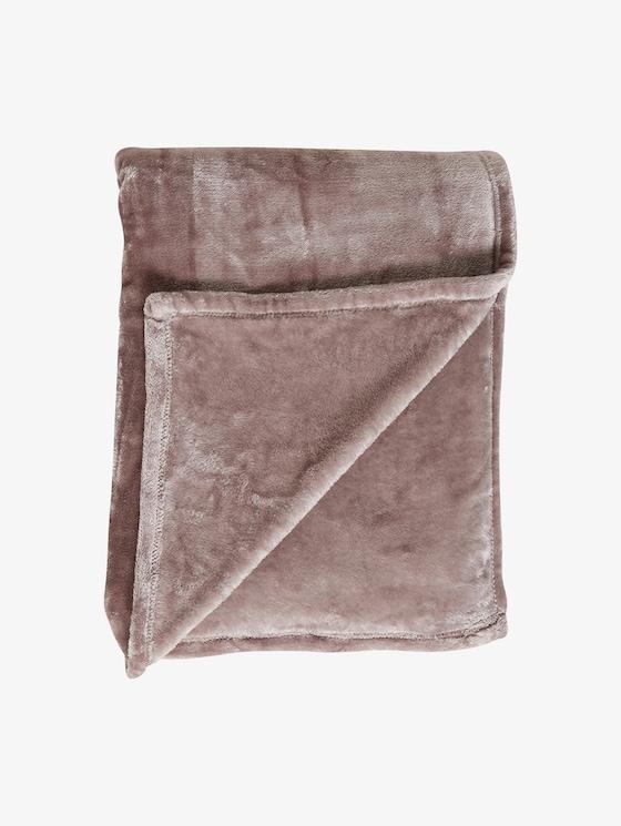 gemütliche Fleece-Decke - unisex - taupe - 1 - TOM TAILOR