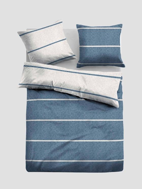 Gestreifte Flanell Bettwäsche - unisex - jeans - 7 - TOM TAILOR