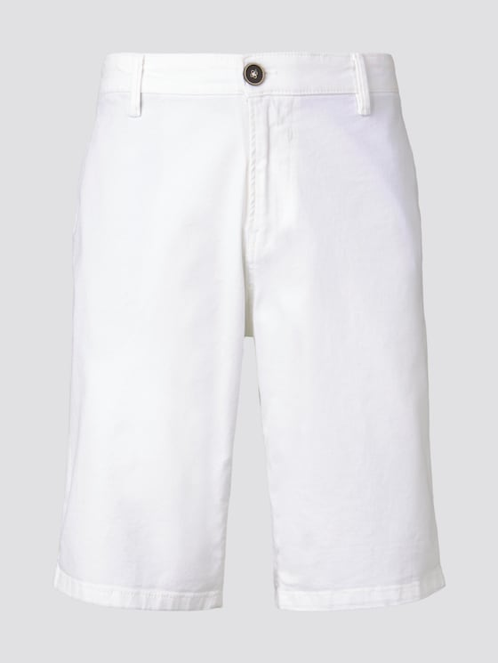Chino Slim Bermuda Shorts - Männer - White - 7 - TOM TAILOR Denim