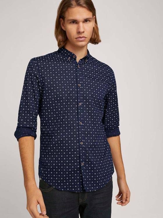 Leichtes Hemd mit Muster - Männer - Blue Minimal Aop - 5 - TOM TAILOR Denim