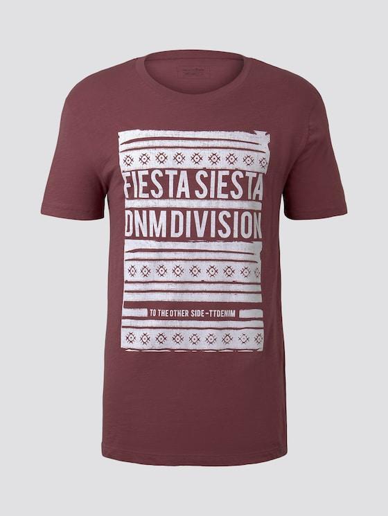 T-Shirt mit Print - Männer - Brick Cottage - 7 - TOM TAILOR Denim