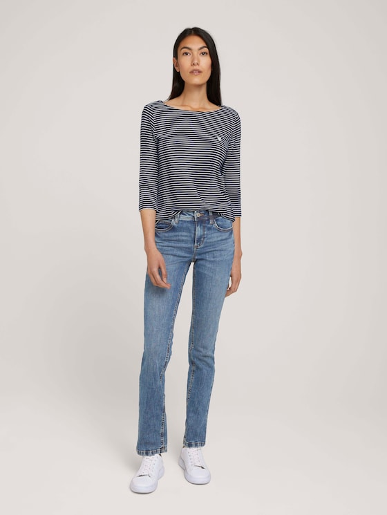 Alexa Straight Jeans - Frauen - random bleached  blue denim - 3 - TOM TAILOR