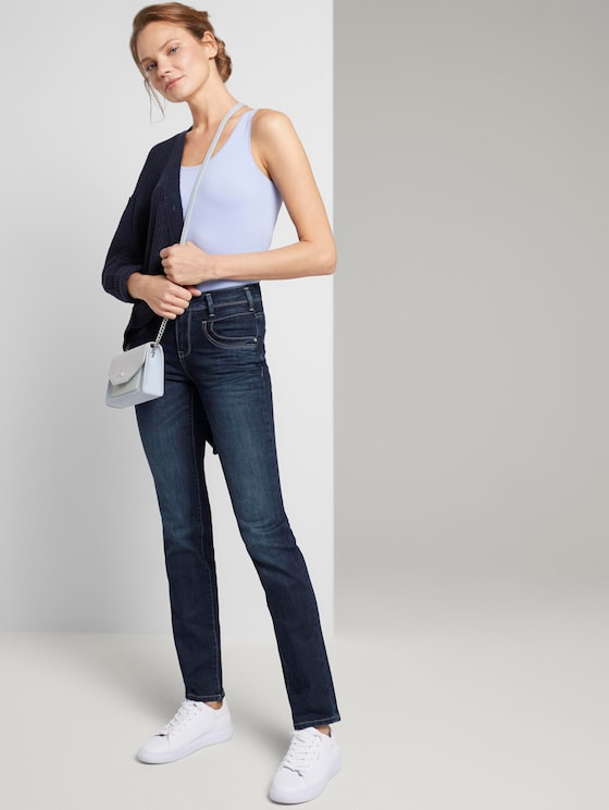 Alexa Straight Jeans mit Bio-Baumwolle - Frauen - dark stone wash denim - 3 - TOM TAILOR