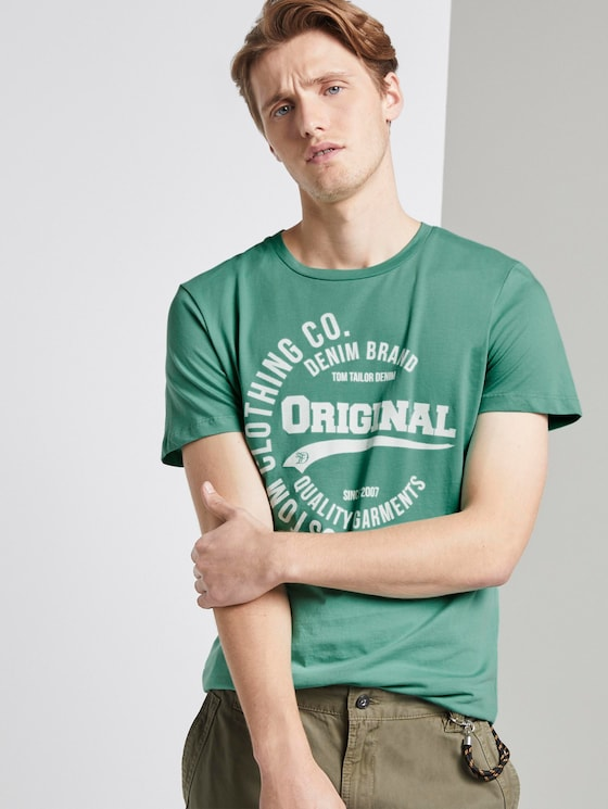 T-Shirt mit Print - Männer - spearmint green - 5 - TOM TAILOR Denim