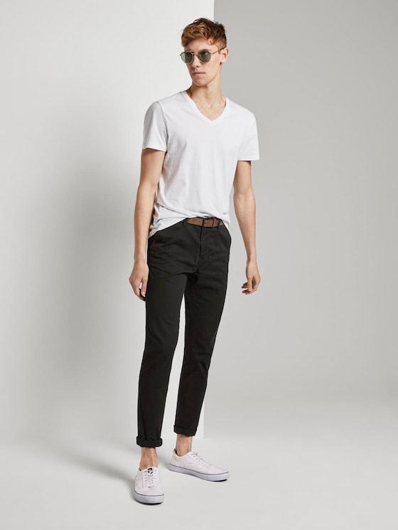 Chino broek met riem - Mannen - Black - 3 - TOM TAILOR Denim