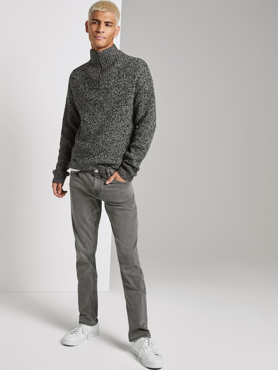 Aedan Straight Superstretch Jeans  - Männer - grey denim - 3 - TOM TAILOR Denim