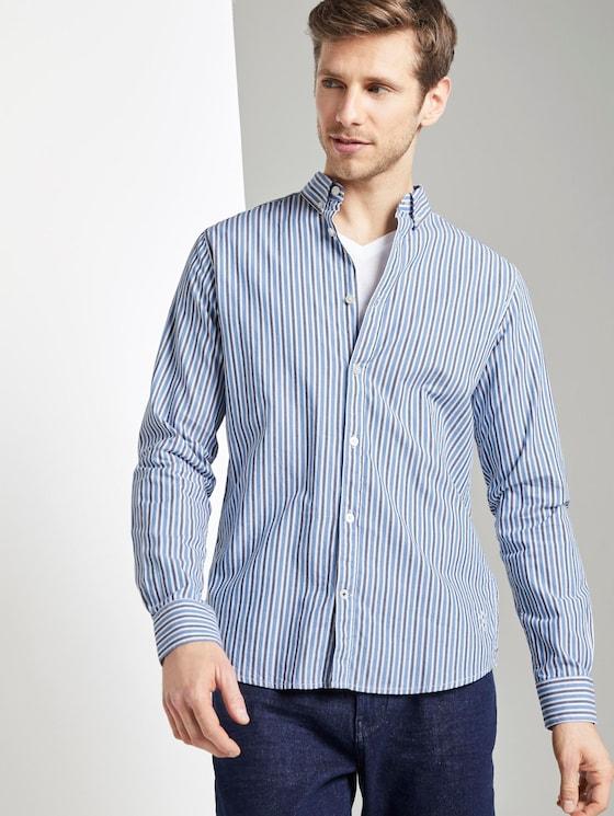 Gemustertes Hemd - Männer - blue shades stripe - 5 - TOM TAILOR
