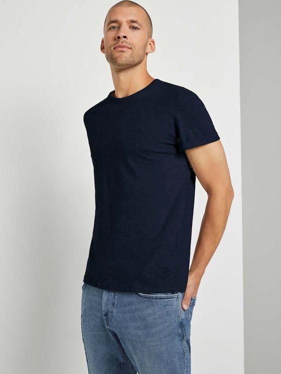 T-shirt in een dubbelverpakking - Mannen - Sky Captain Blue - 5 - TOM TAILOR