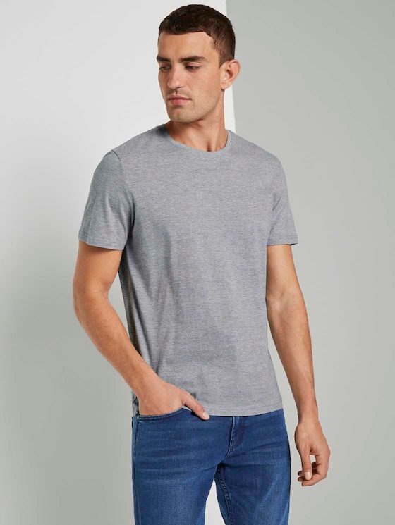 T-Shirt im Doppelpack - Männer - Middle Grey Melange - 5 - TOM TAILOR