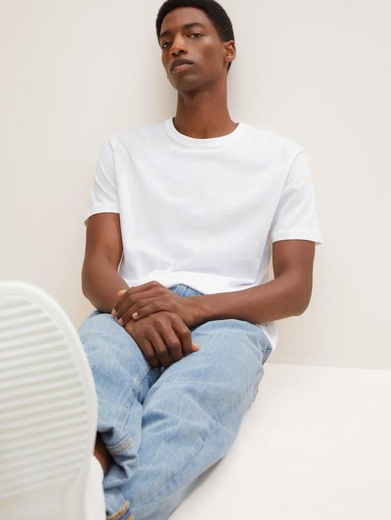 Doppelpack T-Shirt - Männer - White - 5 - TOM TAILOR