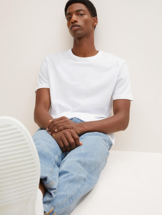 T-shirt in een dubbelverpakking - Mannen - White - 5 - TOM TAILOR