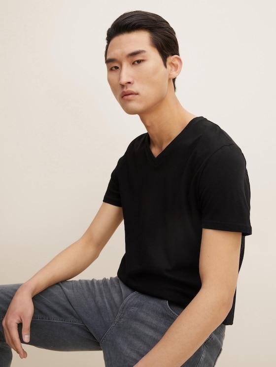 Doppelpack T-Shirt - Männer - Black - 5 - TOM TAILOR