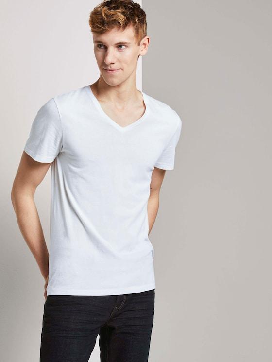 T-Shirt im Doppelpack - Männer - White - 5 - TOM TAILOR Denim
