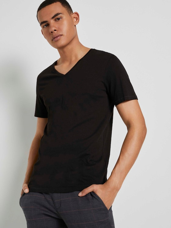 Doppelpack T-Shirt - Männer - Black - 5 - TOM TAILOR Denim