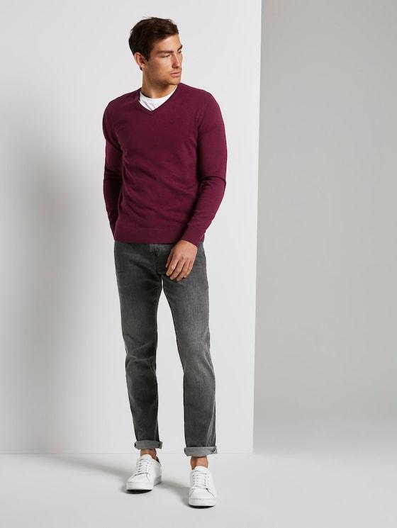 Jeans Josh regular slim - Mannen - grey denim - 3 - TOM TAILOR