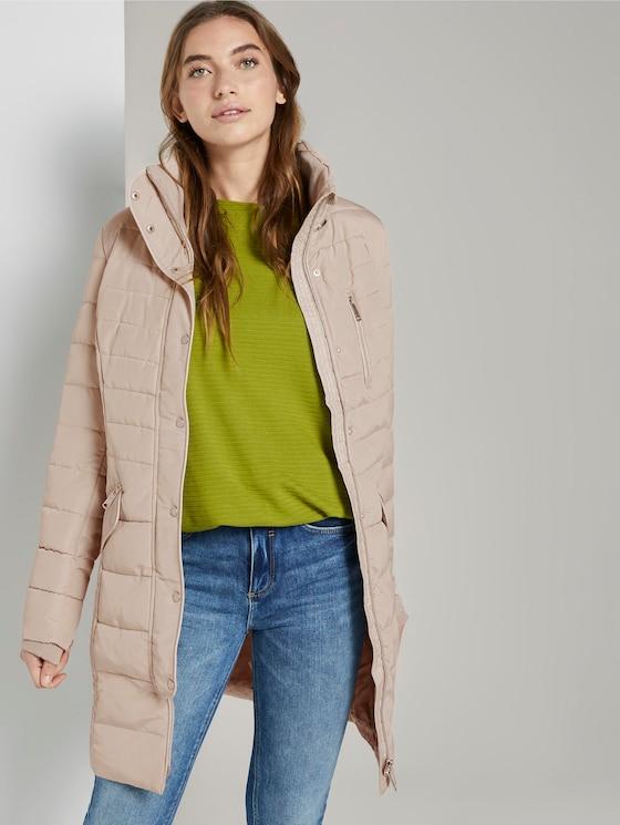 Hybrid coat - Women - silver grey - 5 - TOM TAILOR