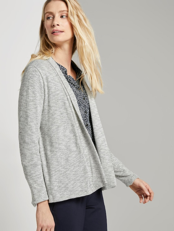 Simple cardigan - Women - Silver Grey Melange - 5 - TOM TAILOR