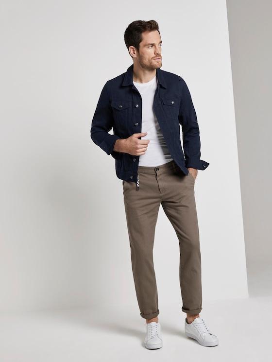 Travis Slim Chino trousers - Men - morel brown - 3 - TOM TAILOR