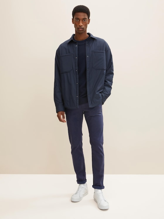 Travis Slim Chino - Männer - navy yarn dye structure - 3 - TOM TAILOR
