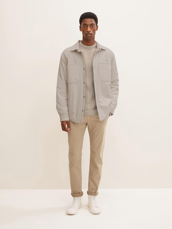 Travis Slim Chino - Männer - cement yarn dye structure - 3 - TOM TAILOR