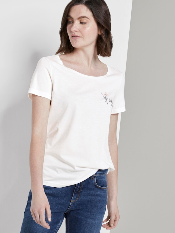 T-Shirt mit Print - Frauen - Whisper White - 5 - TOM TAILOR