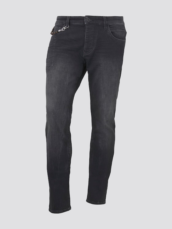 Josh regular slim jeans - Mannen - black stone wash denim - 7 - TOM TAILOR