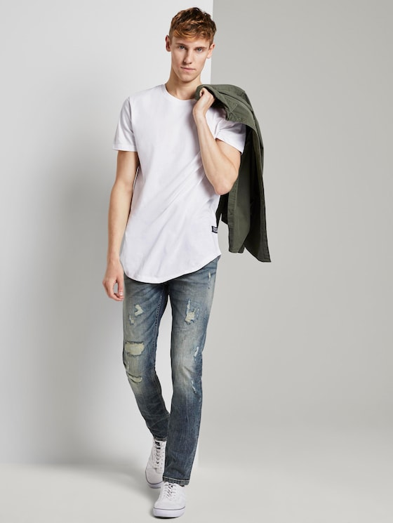 AEDEN Straight Jeans - Men - Destroyed Light Stone Blue Den - 3 - TOM TAILOR Denim