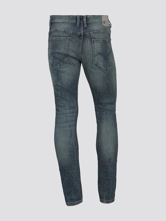 AEDEN Straight Jeans - Männer - Destroyed Mid Stone Blue Denim - 8 - TOM TAILOR Denim